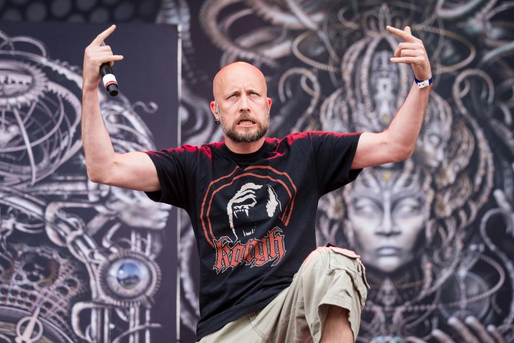 Meshuggah jouent durant la premiere journee du festival Heavy Montreal a Parc Jean Drapeau a Montreal, Quebec, Canada. CREDIT PHOTO OBLIGATOIRE TIM SNOW/evenko Meshuggah perform during the first day of the Heavy Montreal festival at Parc Jean Drapeau in Montreal, Quebec, Canada CREDIT MANDATORY PHOTO BY TIM SNOW/evenko